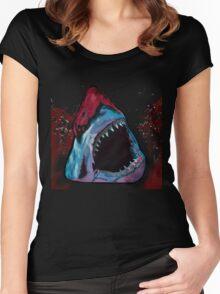 12th Doctor Galaxy Shark T-Shirt Women's Fitted Scoop T-Shirt