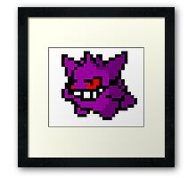 Gengar - 8 bit Framed Print