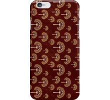 Gold and White Trees on Grunge Red iPhone Case/Skin