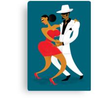 Latin Dancers Canvas Print