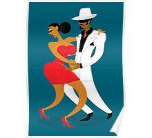 Latin Dancers Poster