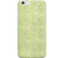 Faded Blue Micro Dots on Yellow iPhone Case/Skin