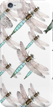 Dragonfly Air Force on White by pjwuebker