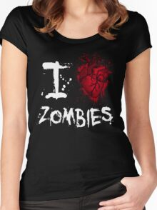 I love zombies Women's Fitted Scoop T-Shirt