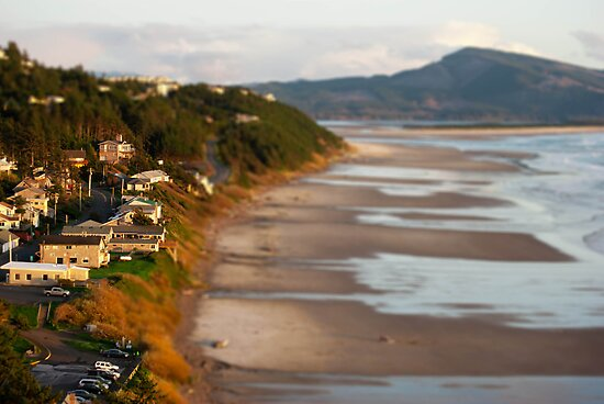 Coastal Town on the Oregon Coast by timothysilva