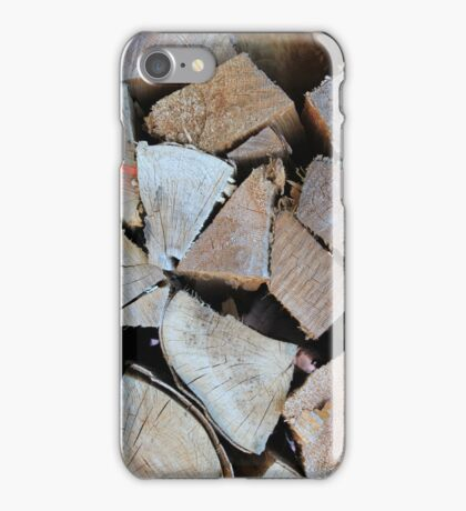 WOOD STACK iPhone Case/Skin
