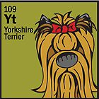 Yorkshire Terrier (Long) - The Dog Table by Angry Squirrel Studio