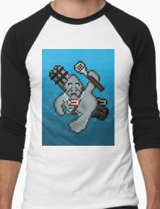 Urf, The Pixel Manatee Men's Baseball ¾ T-Shirt
