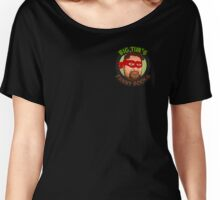 Big Tim's Funny Books (Pocket Logo) Women's Relaxed Fit T-Shirt