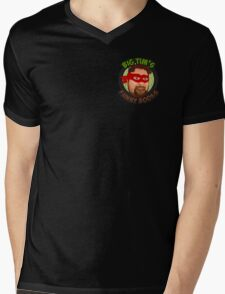 Big Tim's Funny Books (Pocket Logo) Mens V-Neck T-Shirt
