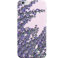 Chic pink purple cute lavender flowers pattern iPhone Case/Skin