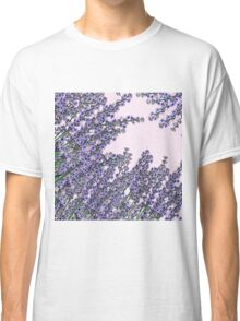 Chic pink purple cute lavender flowers pattern Classic T-Shirt