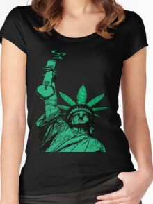The Pursuit of Hempiness (Legalize New York) Women's Fitted Scoop T-Shirt