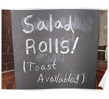 Salad Rolls! (Toast Available!) Poster