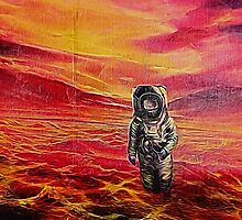 Lost Astronaut on an Alien World by NeonAbstracts