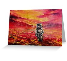 Lost Astronaut on an Alien World Greeting Card