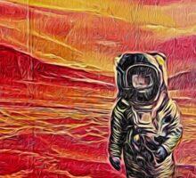 Lost Astronaut on an Alien World Sticker