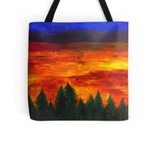 Rainbow Horizon Tote Bag
