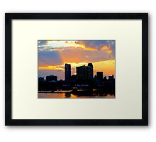 Glorious End of Day Framed Print