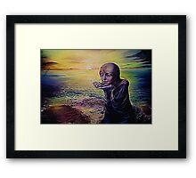 Moon Child on an Alien Planet Framed Print