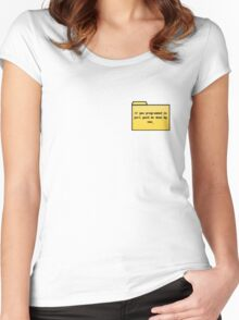 Programming in Pearl - Geek Cards Women's Fitted Scoop T-Shirt