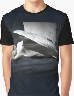 White wings, the wings of an Egret by Lorraine McCarthy Graphic T-Shirt