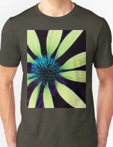 Kathie McCurdy Lime Green Cone Flower Abstract Unisex T-Shirt