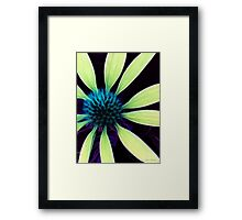 Kathie McCurdy Lime Green Abstract Cone Flower Framed Print