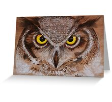 PYROGRAPHY: Great Horned Owl Greeting Card