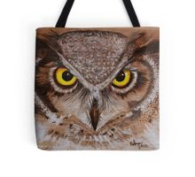 PYROGRAPHY: Great Horned Owl Tote Bag