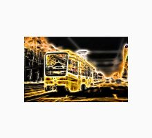 Yellow Neon Trolley Bus in the City Unisex T-Shirt
