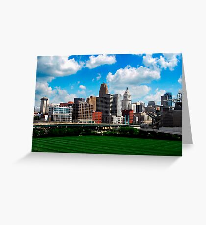 Cincinnati Skyline 7 Greeting Card