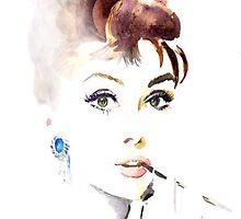 Audrey Hepburn by TaylorAXO