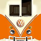 New Orange Volkswagen VW with chrome logo iphone 5, iphone 4 4s, iPhone 3Gs, iPod Touch 4g case by pointsalestore Corps