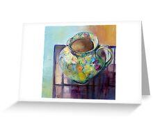 Floral Jug Greeting Card