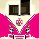 Pink Volkswagen VW with chrome logo iphone 5, iphone 4 4s, iPhone 3Gs, iPod Touch 4g case by pointsalestore Corps