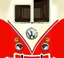 Red Volkswagen VW with chrome logo iphone 5, iphone 4 4s, iPhone 3Gs, iPod Touch 4g case by pointsalestore Corps