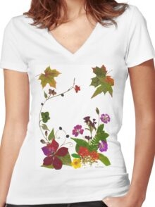 Kathie McCurdy Transition Garden Women's Fitted V-Neck T-Shirt