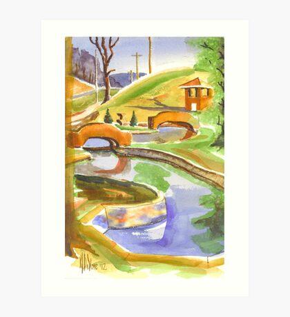 Pools in Brigadoon Art Print