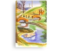 Pools in Brigadoon Canvas Print