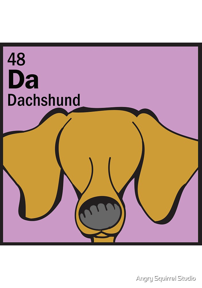 Dachshund - The Dog Table by Angry Squirrel Studio