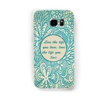 Love Life Floral Pattern Samsung Galaxy Case/Skin