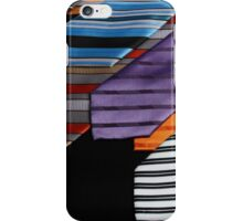 colorful ties for men on black background iPhone Case/Skin