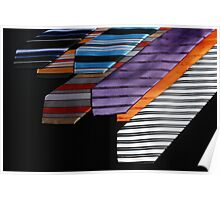 colorful ties for men on black background Poster