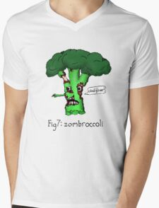 Zombroccoli Mens V-Neck T-Shirt