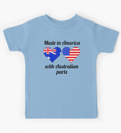 Made In America With Australian Parts Kids Tee