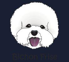 Bichon Frise Cartoon Dog Illustration  Kids Tee