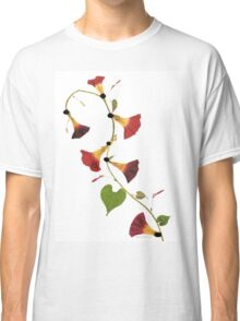 Kathie McCurdy Pressed Flowers Morning Glory Vine Classic T-Shirt