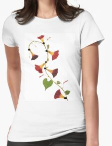 Kathie McCurdy Pressed Flowers Morning Glory Vine Womens Fitted T-Shirt