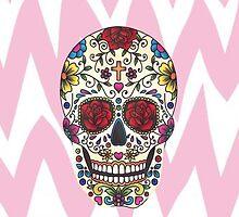 Sugar Skull Chevron Pattern by alyssawright